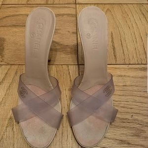 CHANEL Shoes - Chanel clear Mules size 42